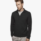 James Perse Cashmere Half-Zip Sweater
