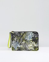 Pauls Boutique Pouch Clutch Bag In Palm Print