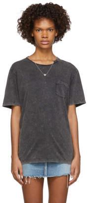 Saint Laurent Grey Destroyed T-Shirt