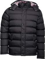 Kangaroo Poo Mens Hooded Puffer Jacket Black