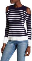 Tommy Hilfiger Striped Cold Shoulder Sweater