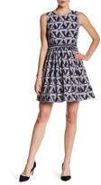 Julia Jordan Embellished and Fringe Waist Sleeveless Dress