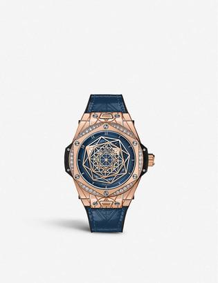 Hublot 465.OS.7189.VR.1204.MXM19 Big Bang One Click Sang Bleu 18ct king-gold and diamond watch