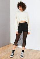 Silence & Noise Silence + Noise Sheer Mesh Column Midi Skirt