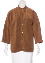 Current/Elliott Fringe-Trimmed Suede Jacket w/ Tags