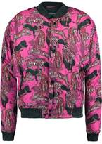 Just Cavalli Printed Padded Shell Down Bomber Jacket