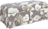 Skyline Furniture Cammie Skirted Bench, Gray Floral