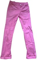 Trussardi Jeans Pink Cotton - elasthane Jeans for Women
