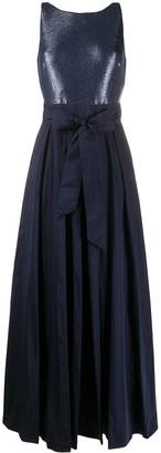 Lauren Ralph Lauren Metallic-Taffeta Gown