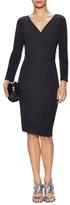 Diane von Furstenberg Calista Wrapped Bodice Sheath Dress