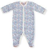 Petit Bateau Floral-Print Front Snap Footie Pajamas, Size Newborn-9M