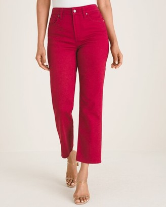 Chico's High-Rise Straight-Leg Crops