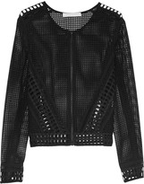 Jonathan Simkhai Lattice-trimmed mesh jacket