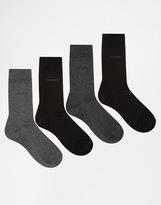 Calvin Klein 4 Pack Socks Christmas Gift Set - Multi
