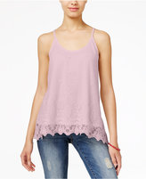 American Rag Lace Handkerchief-Hem Cami Top, Only at Macy's