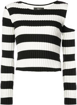 Amiri striped cut-detail top