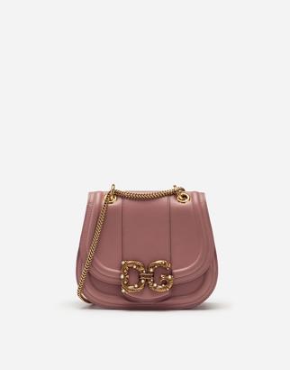 Dolce & Gabbana Small Amore Bag In Calfskin