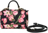 Dolce & Gabbana Floral Printed Brocade & Leather Bag