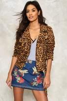 Nasty Gal nastygal Alice Leopard Moto Jacket