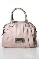Valentino Garavani Pink Silver Leather Satchel Handbag