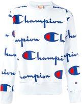 Champion all over logo print sweatshirt