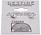 Crystallite Destine Clear Faceted Square Earrings 4mm