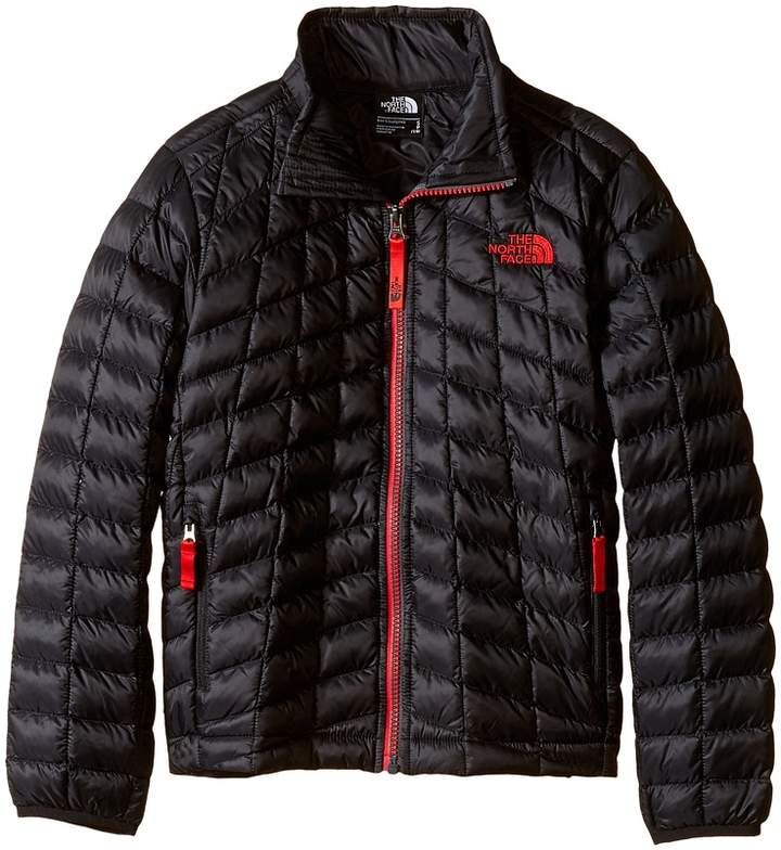 The North Face Kids Thermoball Full Zip Jacket (Little Kids/Big Kids) (TNF Black/TNF Red