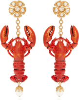 Dolce & Gabbana Embellished lobster-drop earrings