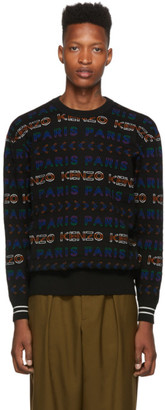 Kenzo Multicolor Wool All Over Logo Sweater
