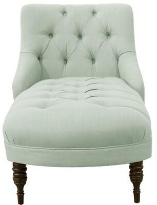Strattenborough Tufted Slope Arm Chaise Lounge Rosdorf Park Color: Denim