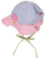 Florence Eiseman Striped Seersucker Baby Hat, Multicolor, Newborn-9 Months