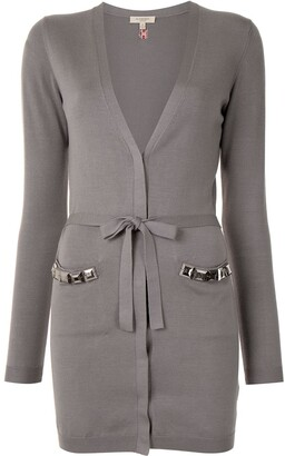 Burberry Pre-Owned V-neck belted cardigan