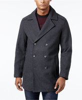 Alfani Men's Peacoat with Faux Leather Trim, Only at Macy's