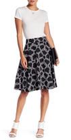 Amanda & Chelsea Circle Pattern Flare Skirt