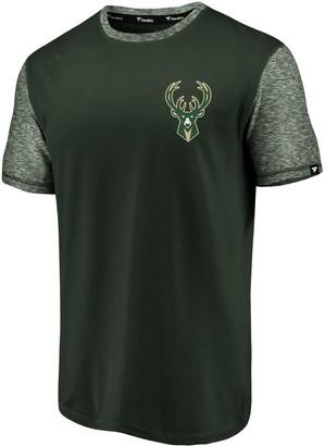 Hunter Men's Fanatics Branded Green/Heathered Green Milwaukee Bucks Made to Move Static Performance T-Shirt