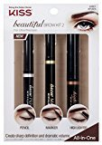 Kiss Beautiful Brow Kit Pencil / Marker / Highlighter by