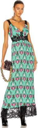 Paco Rabanne Printed Lace Trim Dress in Bel Air | FWRD