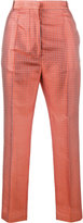 Haider Ackermann cropped jacquard trousers - women - Silk/Cotton - 34