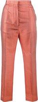 Haider Ackermann cropped jacquard trousers - women - Silk/Cotton - 42