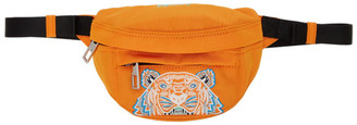 Kenzo Orange Mini Canvas Tiger Bum Bag