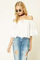 Forever 21 FOREVER 21+ Lace-Trim Off-The-Shoulder Top