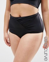 Asos Mix & Match Highwaist Bikini Bottom with Wrapped Front and Support
