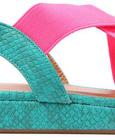 *Sole Boutique The Duncan Reptile Sandal in Stone