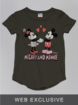 Junk Food Clothing Toddler Girls Mickey And Minnie Mouse Tee-bkwa-2t