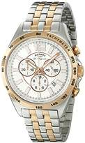 Rotary Men's gb90072/06 Analog Display Swiss Quartz Two Tone Watch