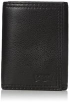 Levi's Men's Trifold Wallet with Embossed Logo