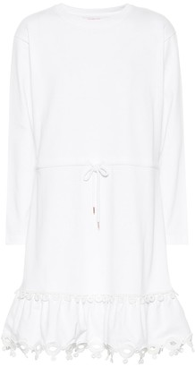 See by Chloe Cotton jersey minidress