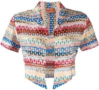 Missoni Mare Striped-Crochet Cropped Jacket