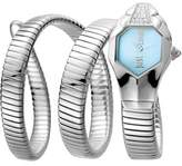 Just Cavalli Womens Ss With Stones Watch With Ice Blue Dial.
