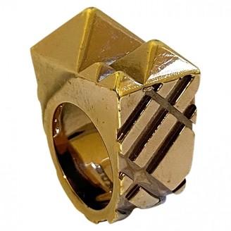 Burberry Gold Metal Rings